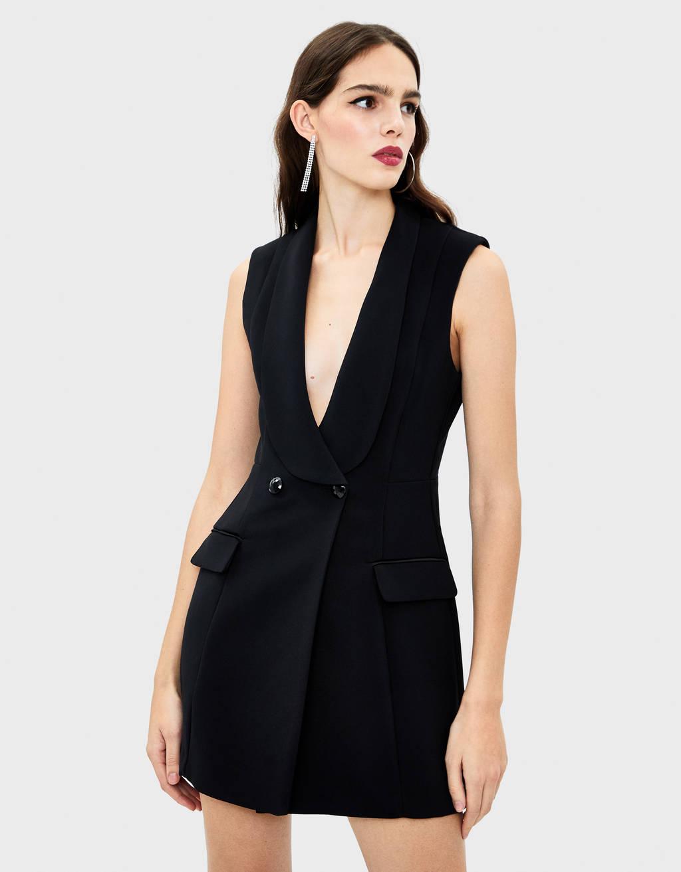 Wrap waistcoat dress