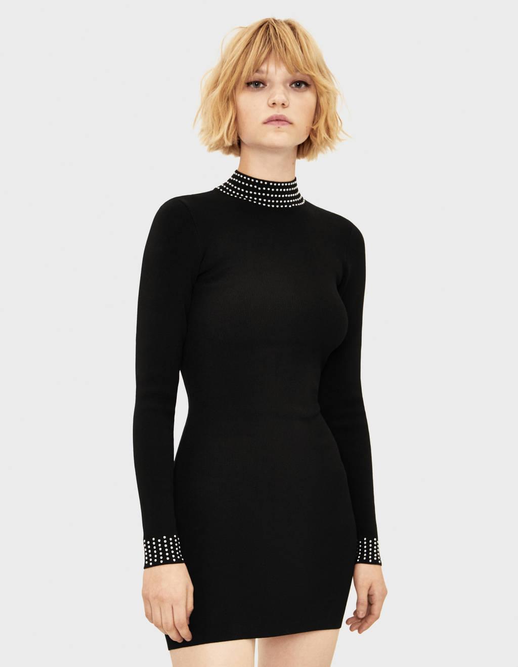 cheaper 8dba9 2e82c Vestito corto con borchie