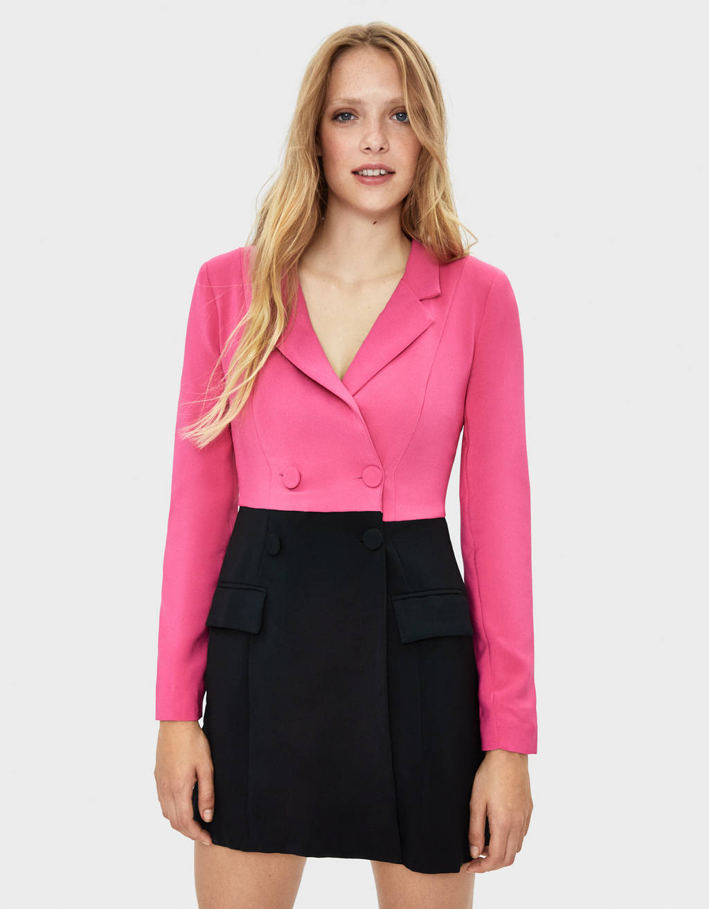 Two colour blazer-style dress