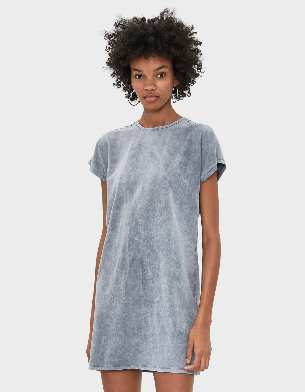 Short acid wash dress
