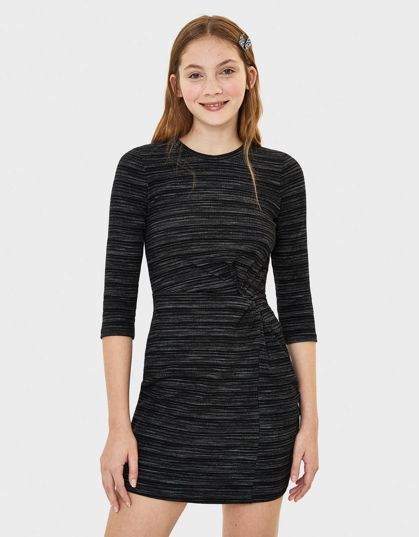 Short Gathered Dress by Bershka