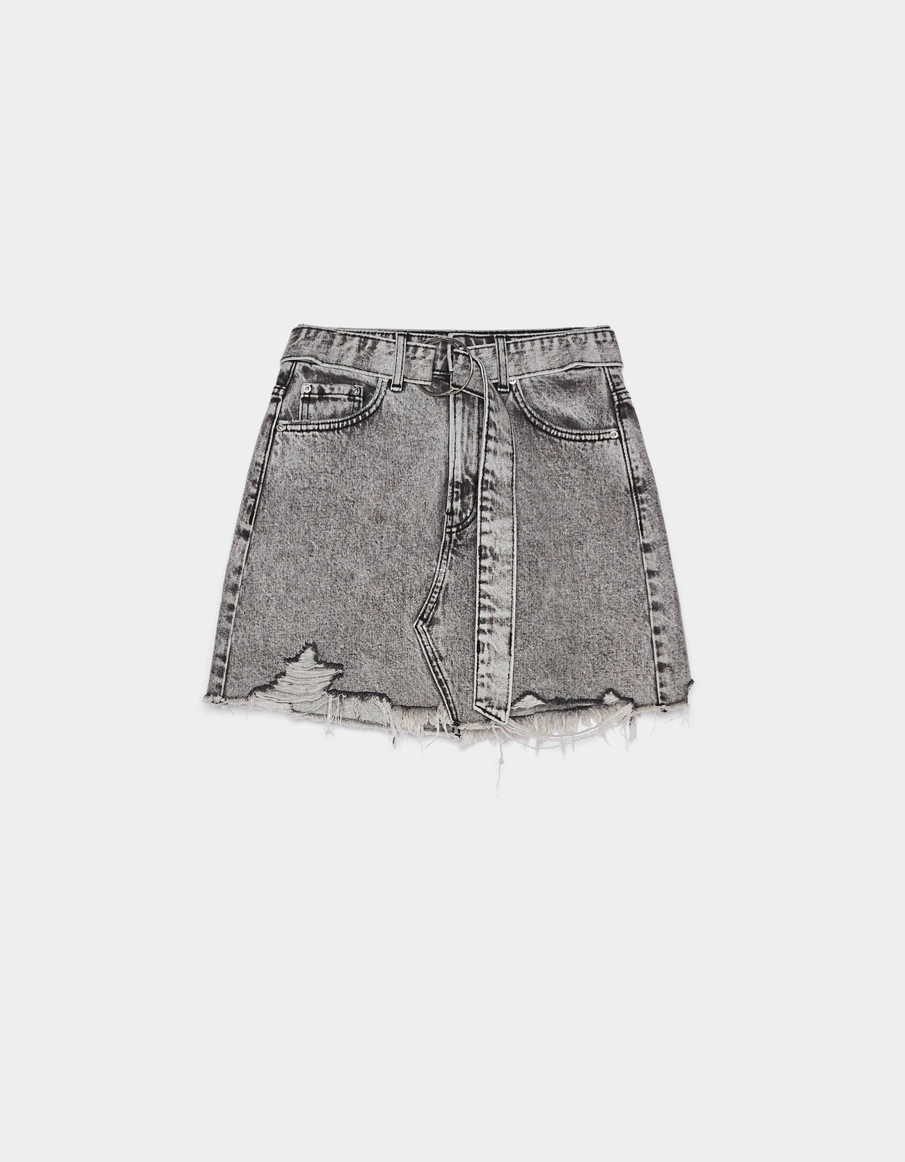 99b696fc2 Mini skirt with belt - Skirts - Bershka Greece