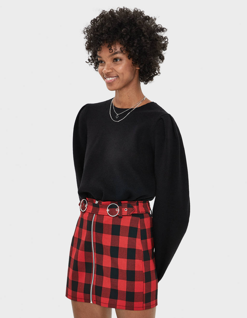 Mini suknja s kopčama