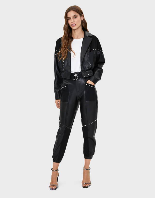 plus près de Nouvelles Arrivées haute couture Pantalons jogger pour femme - Automne 2019 | Bershka