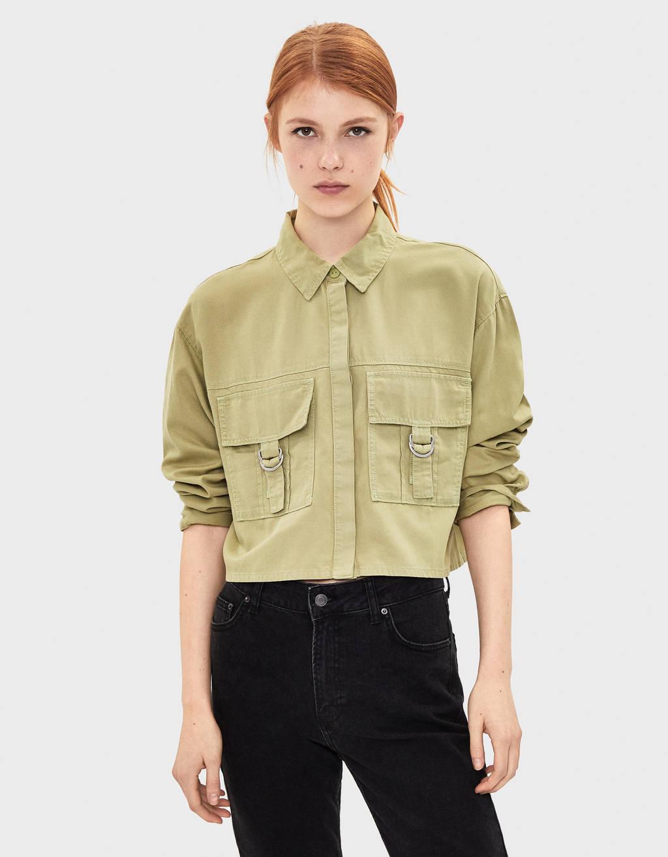 Chemise TENCEL® avec poches