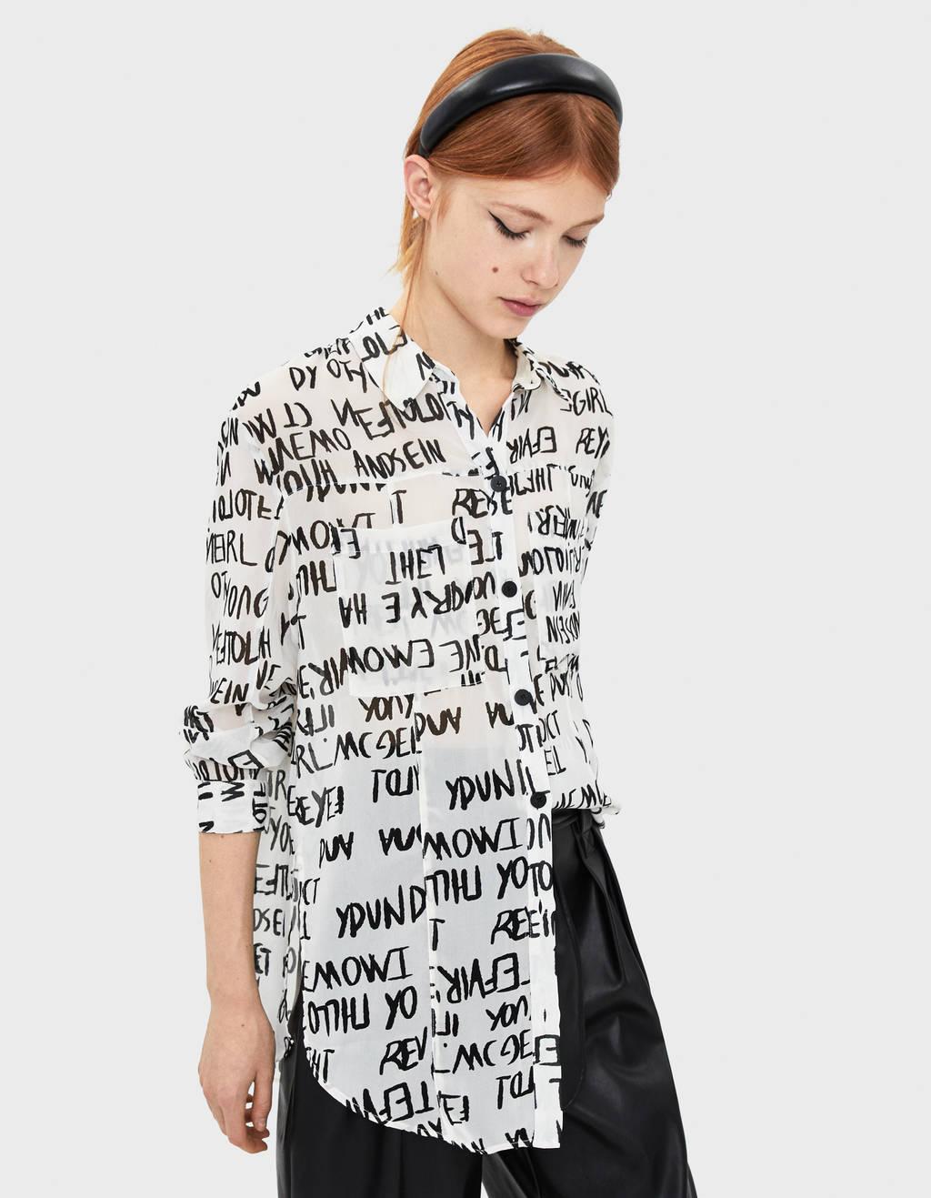 size 40 11a35 b3e60 Bluse e camicie da donna - Autunno 2019 | Bershka