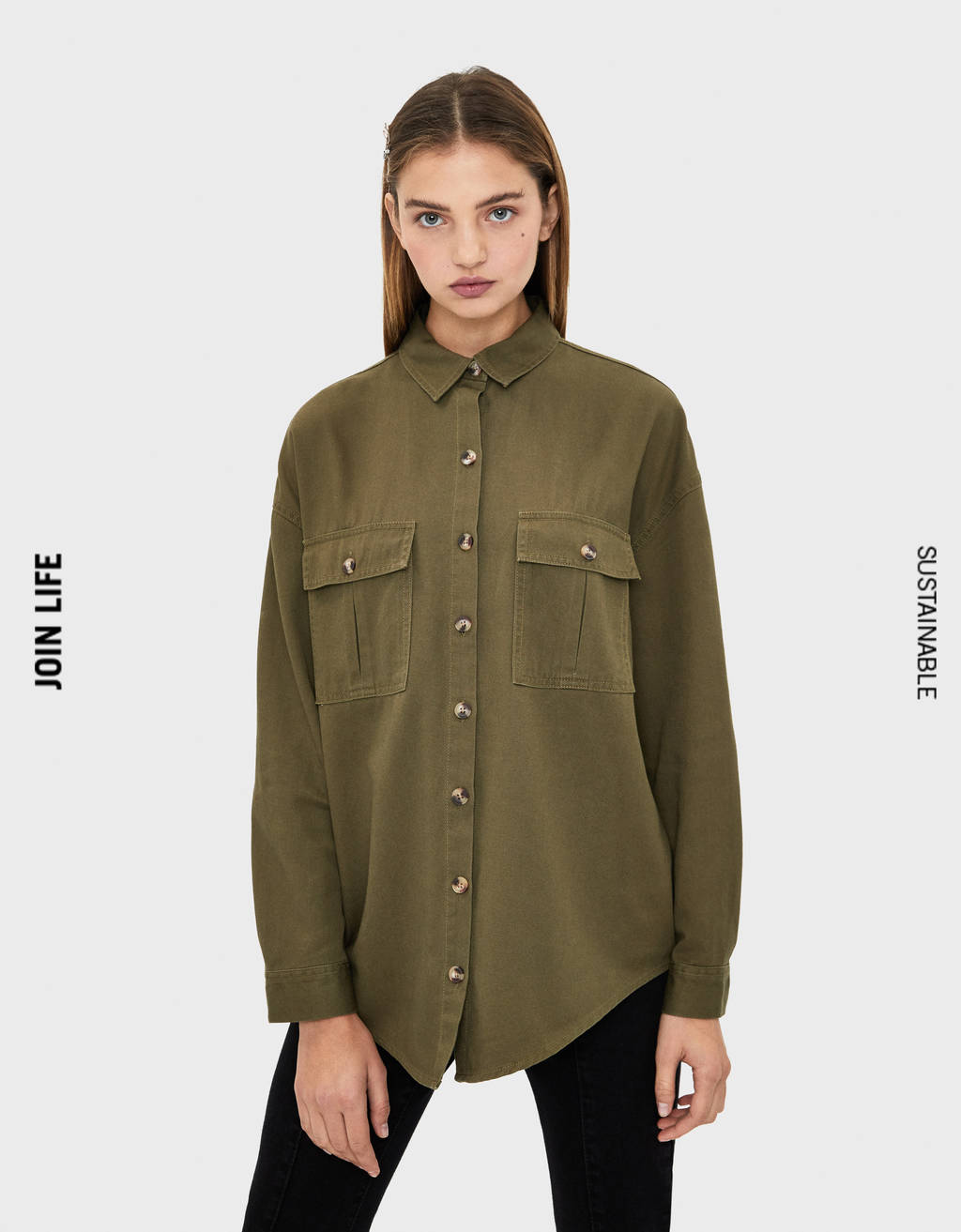 Oversized TENCEL® overshirt