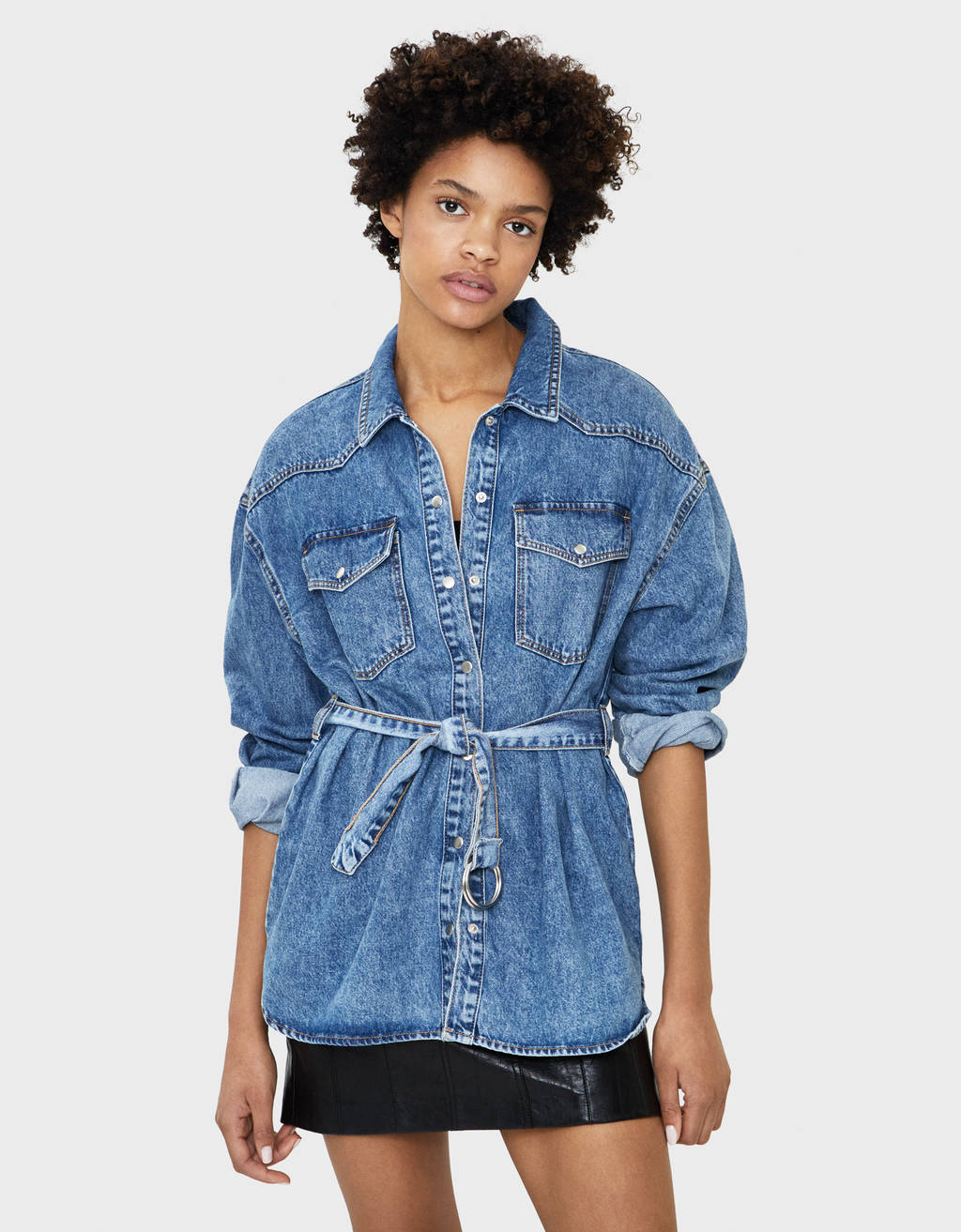 Skjortjacka denim