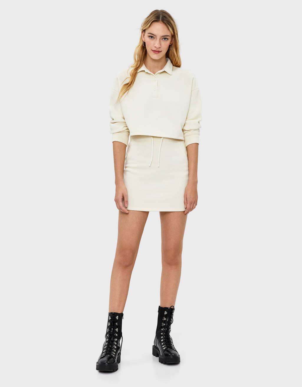 Plush short skirt