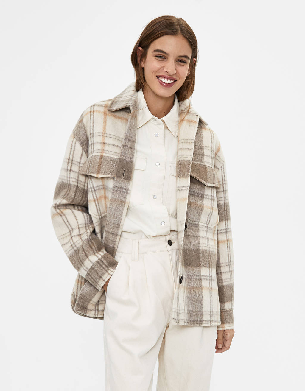 Checked overshirt