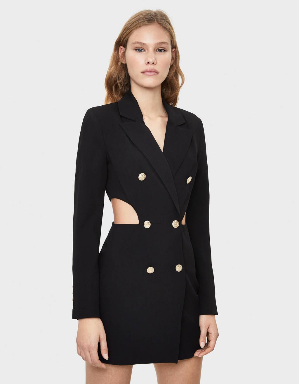Kleid im Blazer-Stil mit Schlitzen