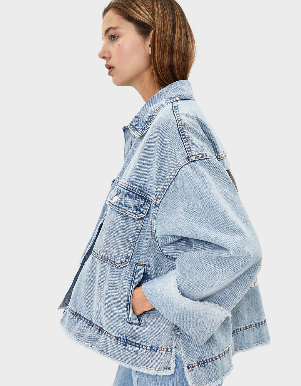 Veste en jean oversize