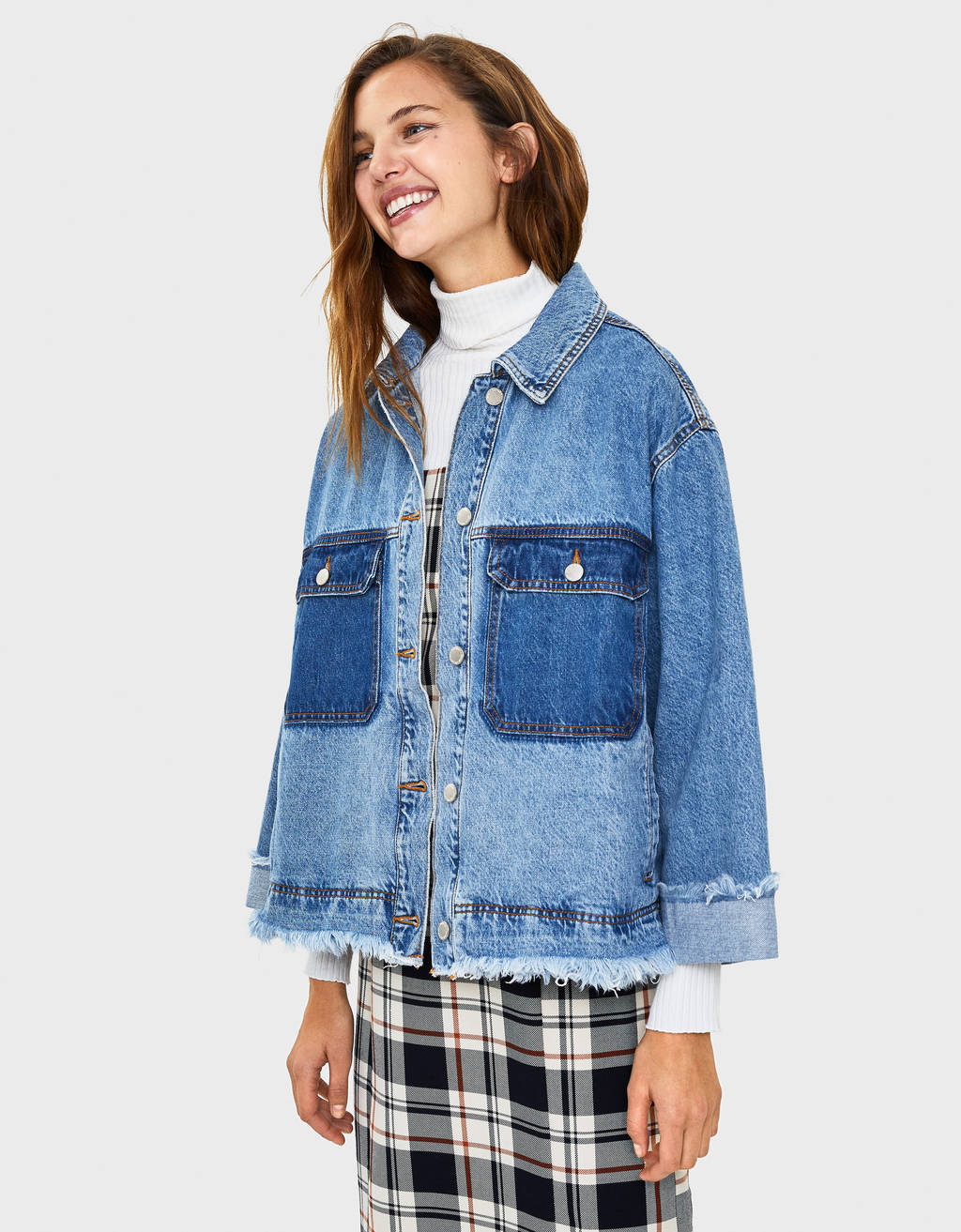 Contrast denim jacket