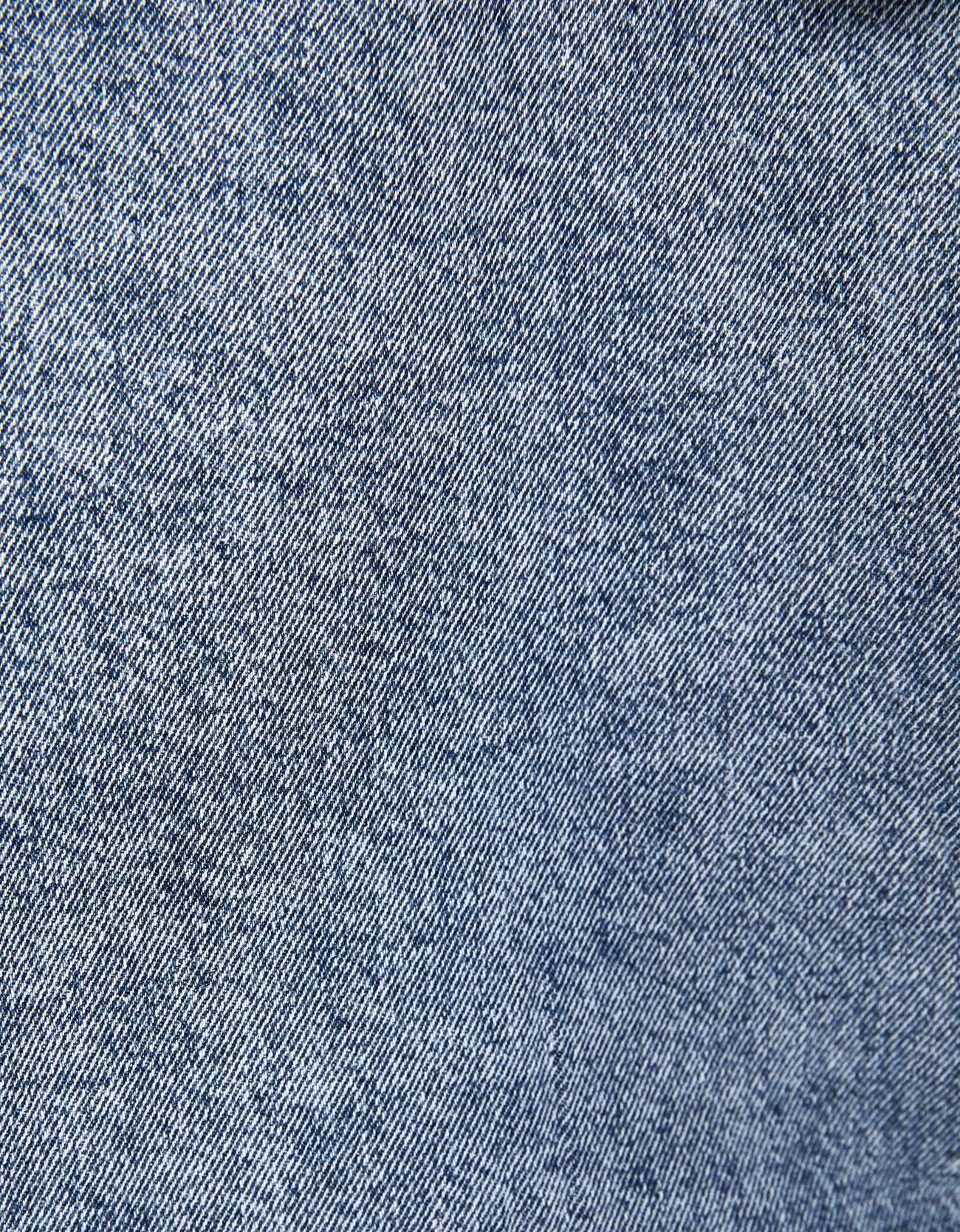 Джинсовая куртка с капюшоном Синий застиранный Bershka
