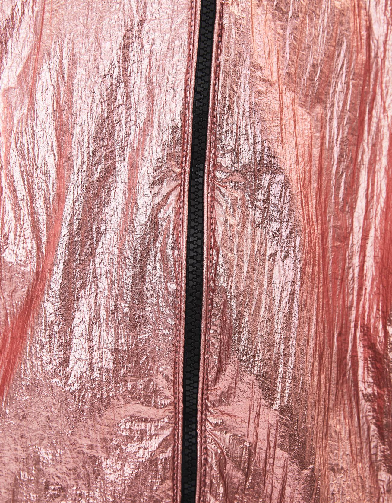 Нейлоновая куртка с металлизированной отделкой Розовый Bershka