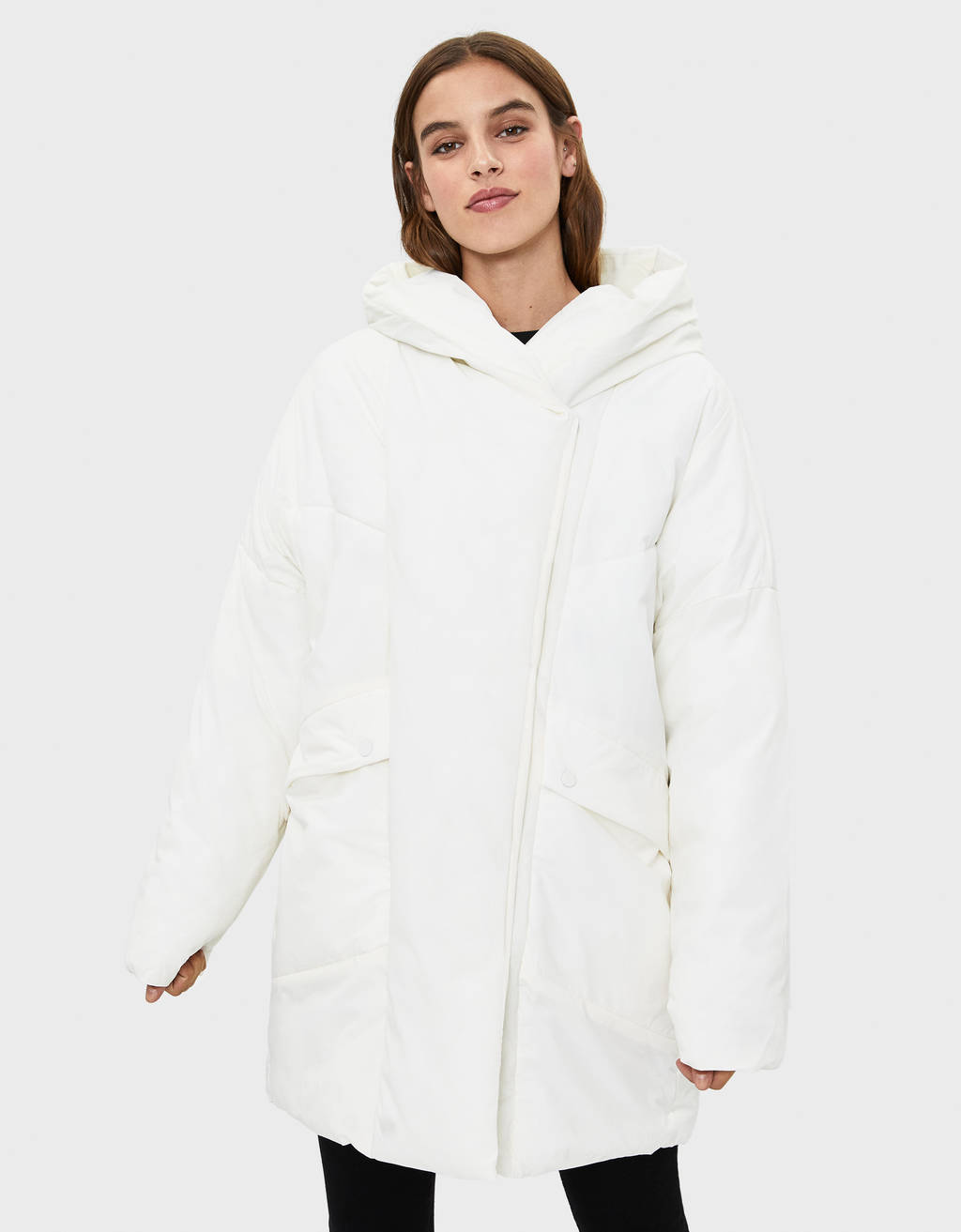 Manteau puffy à capuche