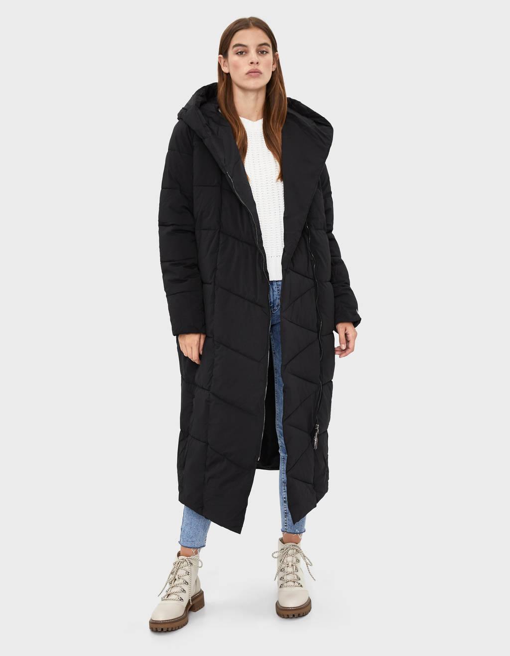 Manteau doudoune maxi à capuche