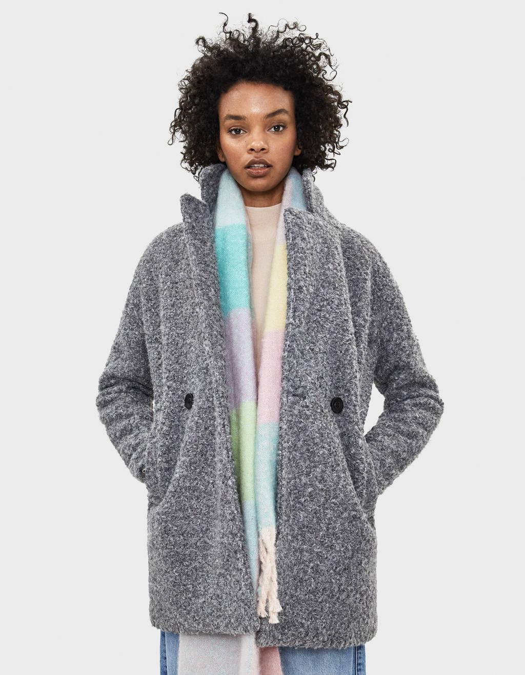 Manteau oversize en mouton synthétique