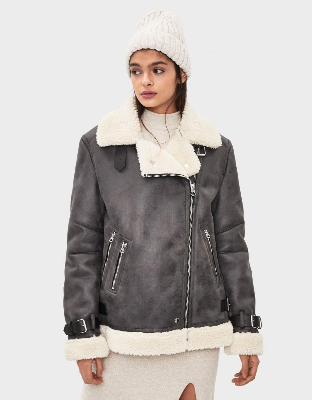 Double-sided biker jacket