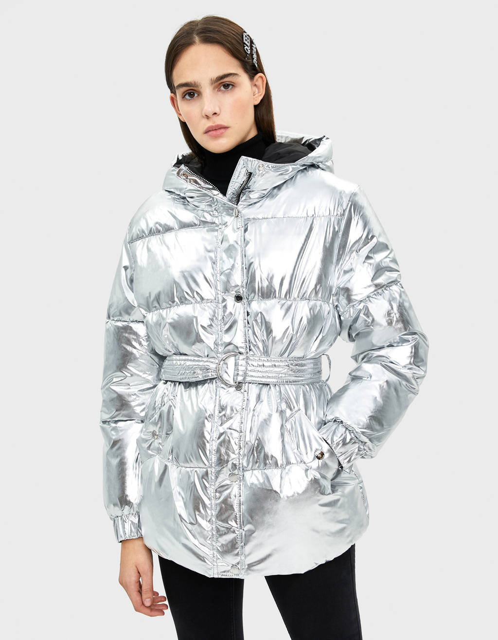 Metallische Pufferjacke