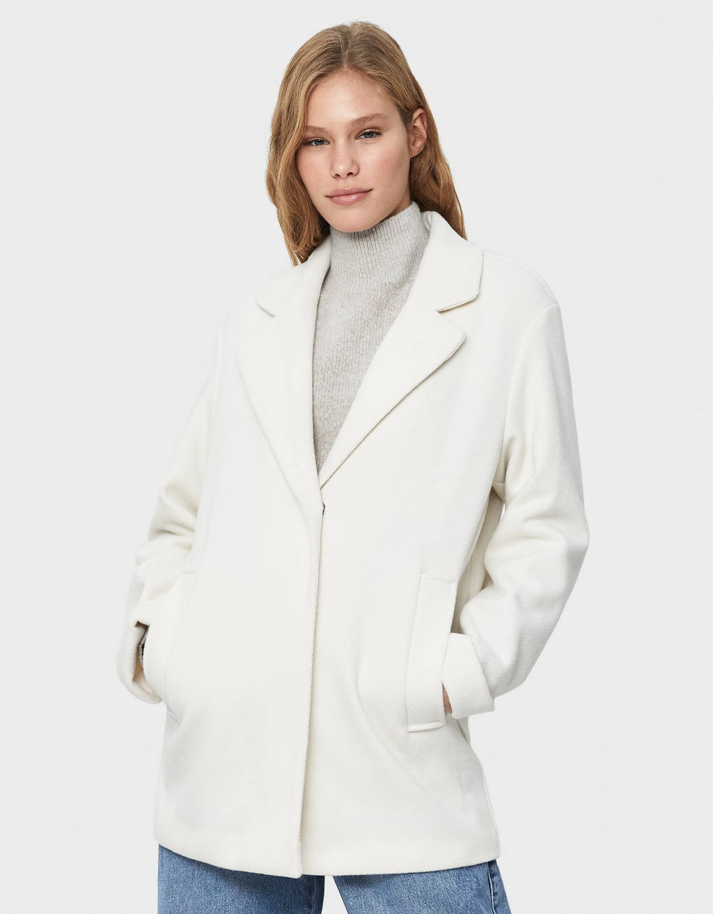 Straight fit coat