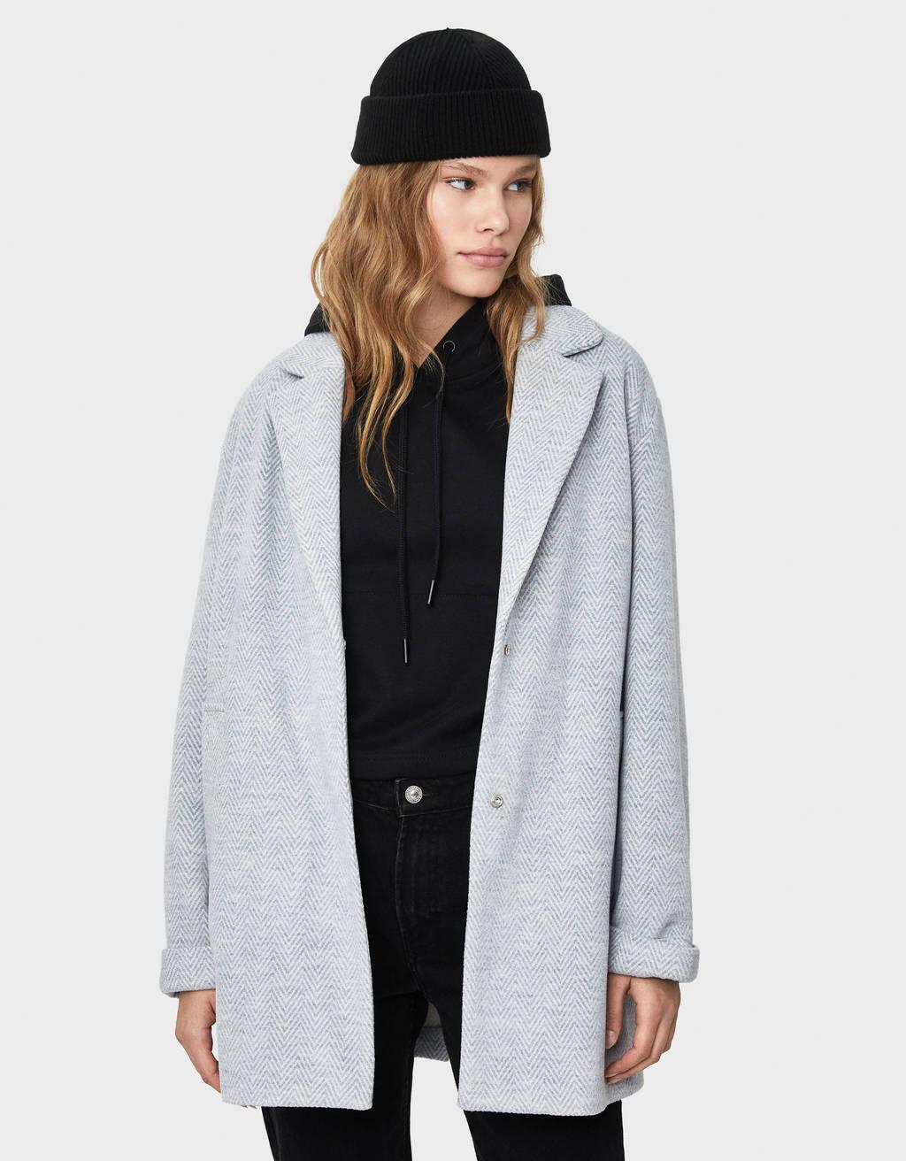Masculine-cut coat