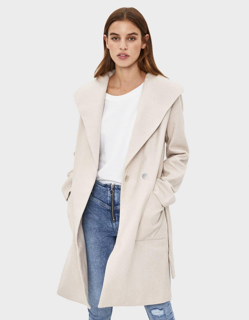 Long belted coat