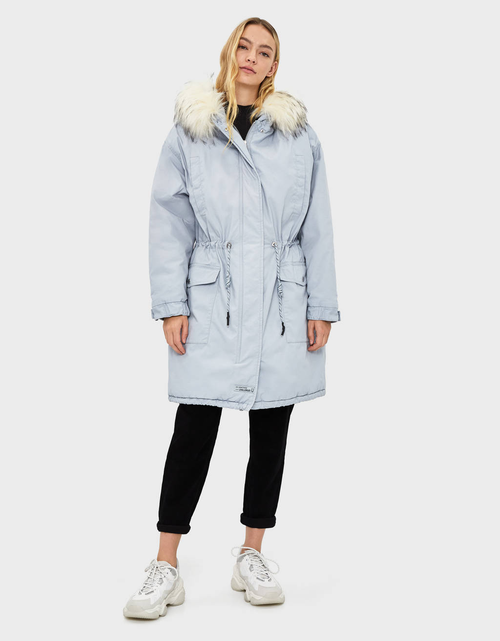 Oversized hooded parka