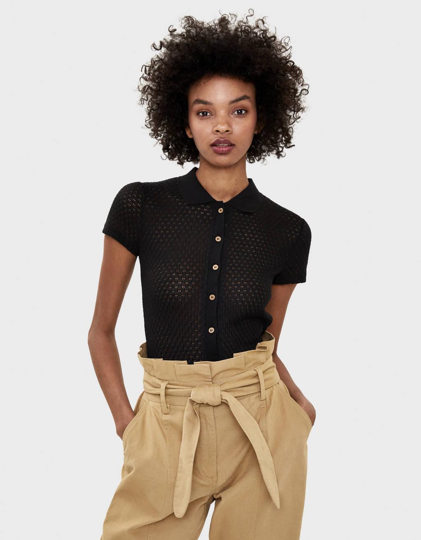 Camiseta polo con punto cortado