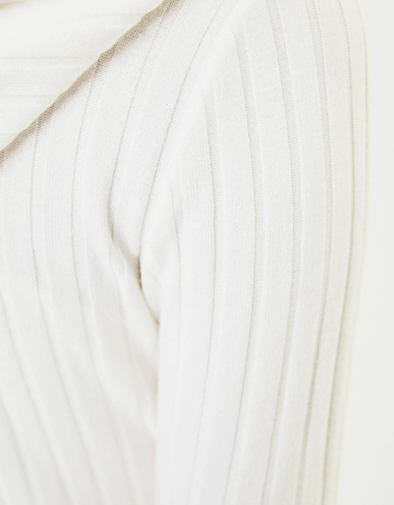 Трикотажный кардиган и топ Белый Bershka