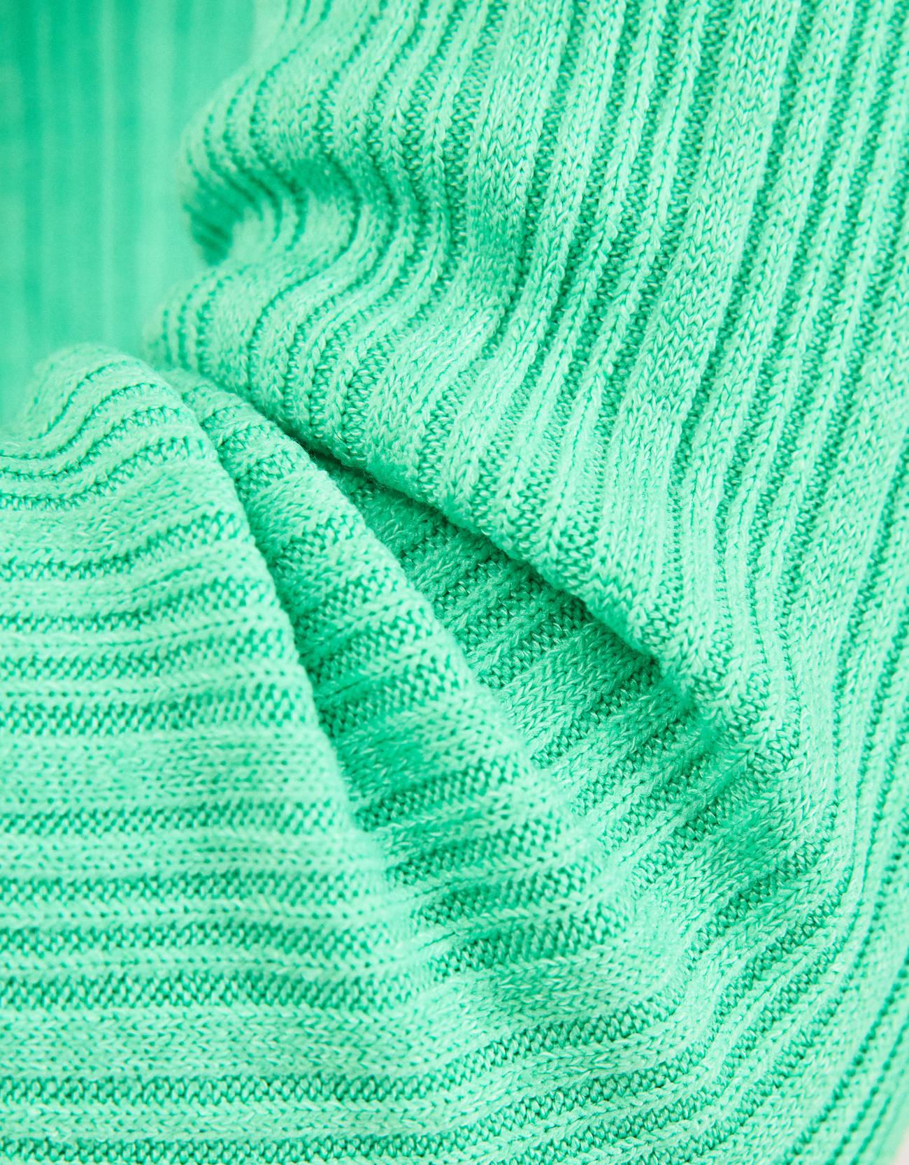 Свитер с круглым вырезом Зеленый Bershka
