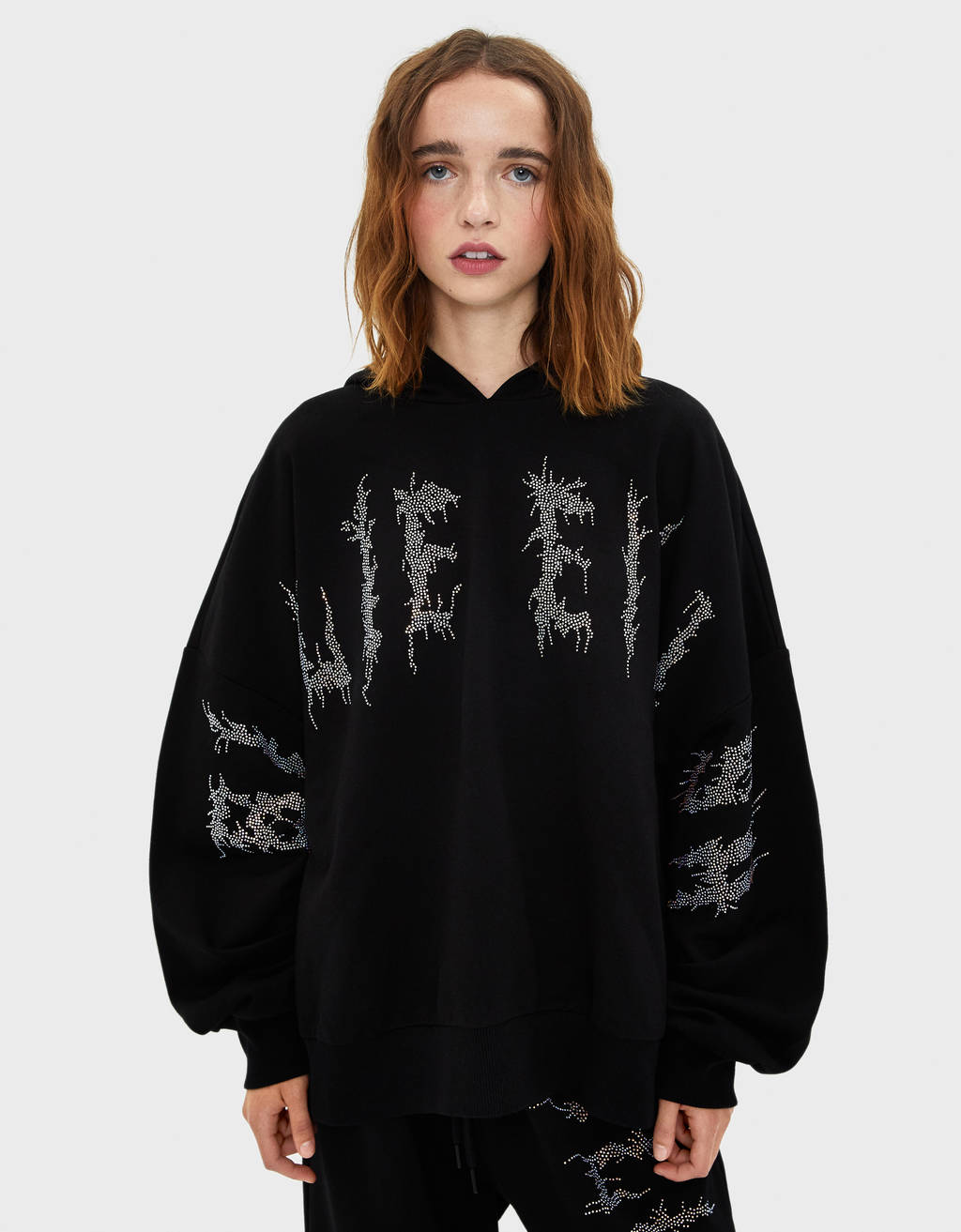 Sweat à strass Billie Eilish x Bershka