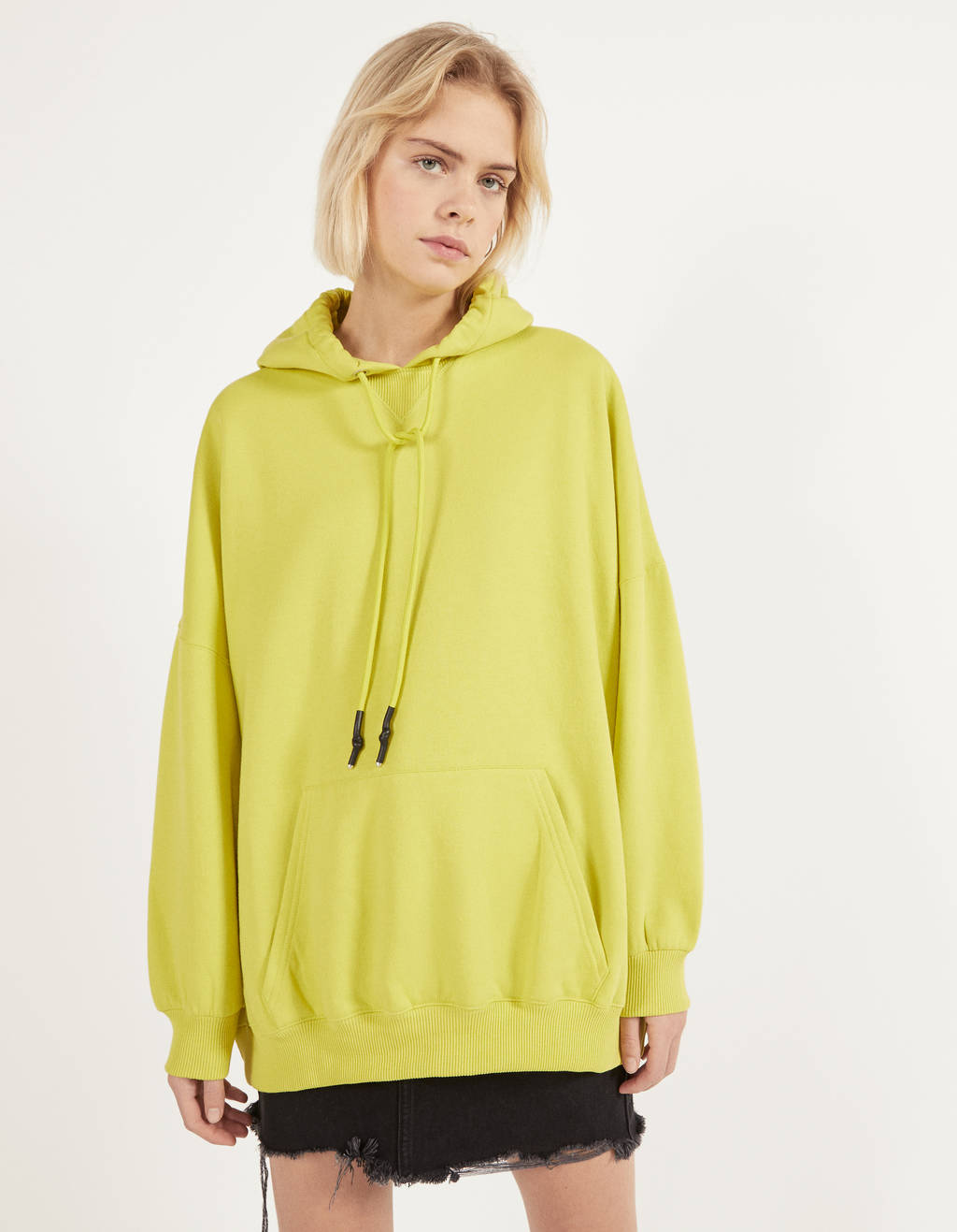 Sweat oversize à capuche - Mini - Bershka