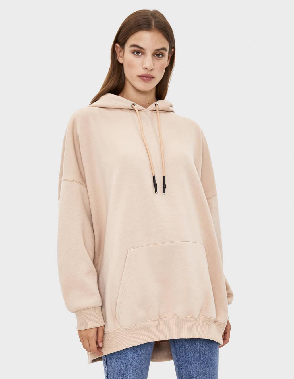 hoodie camel kleur