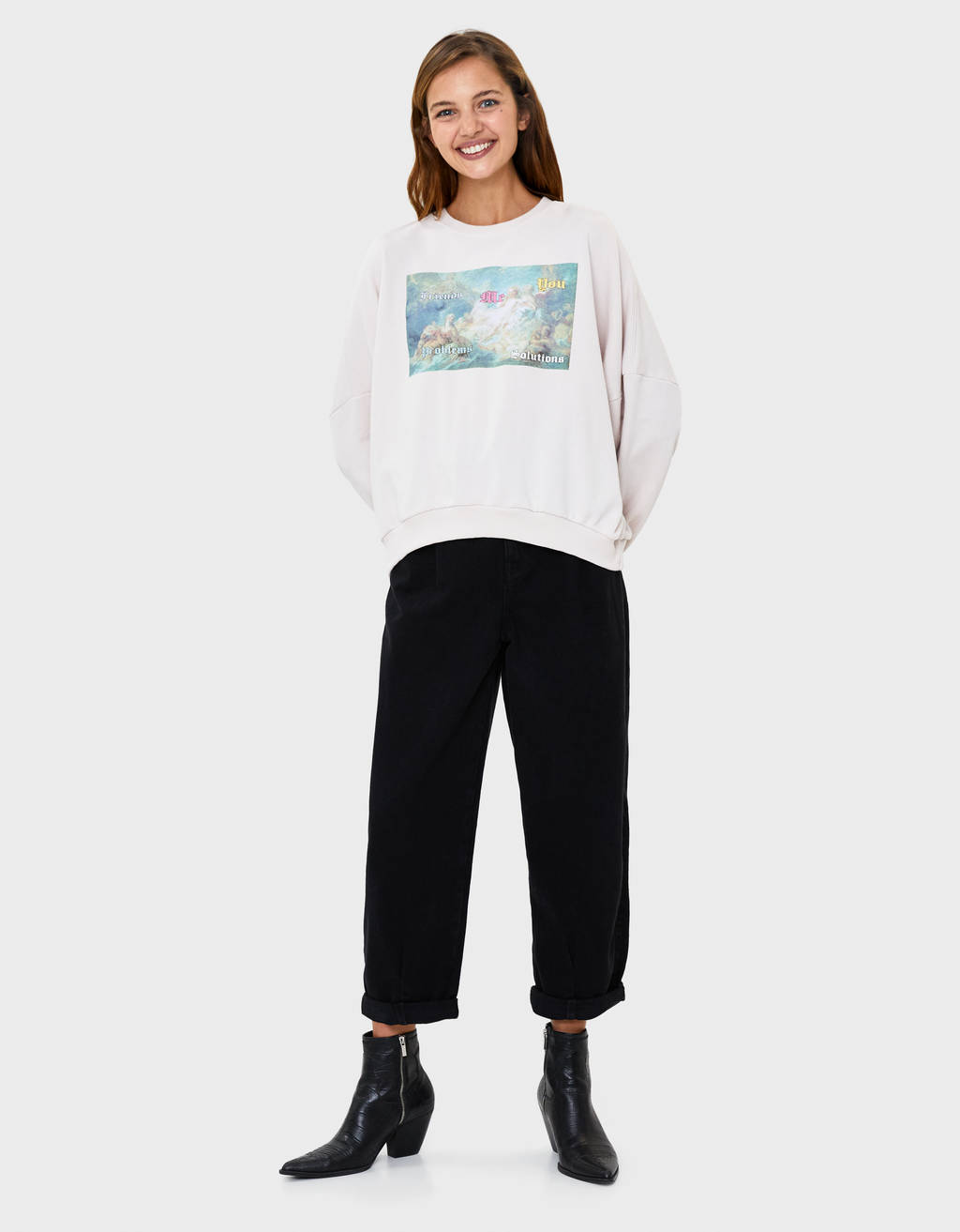 Angel print sweatshirt