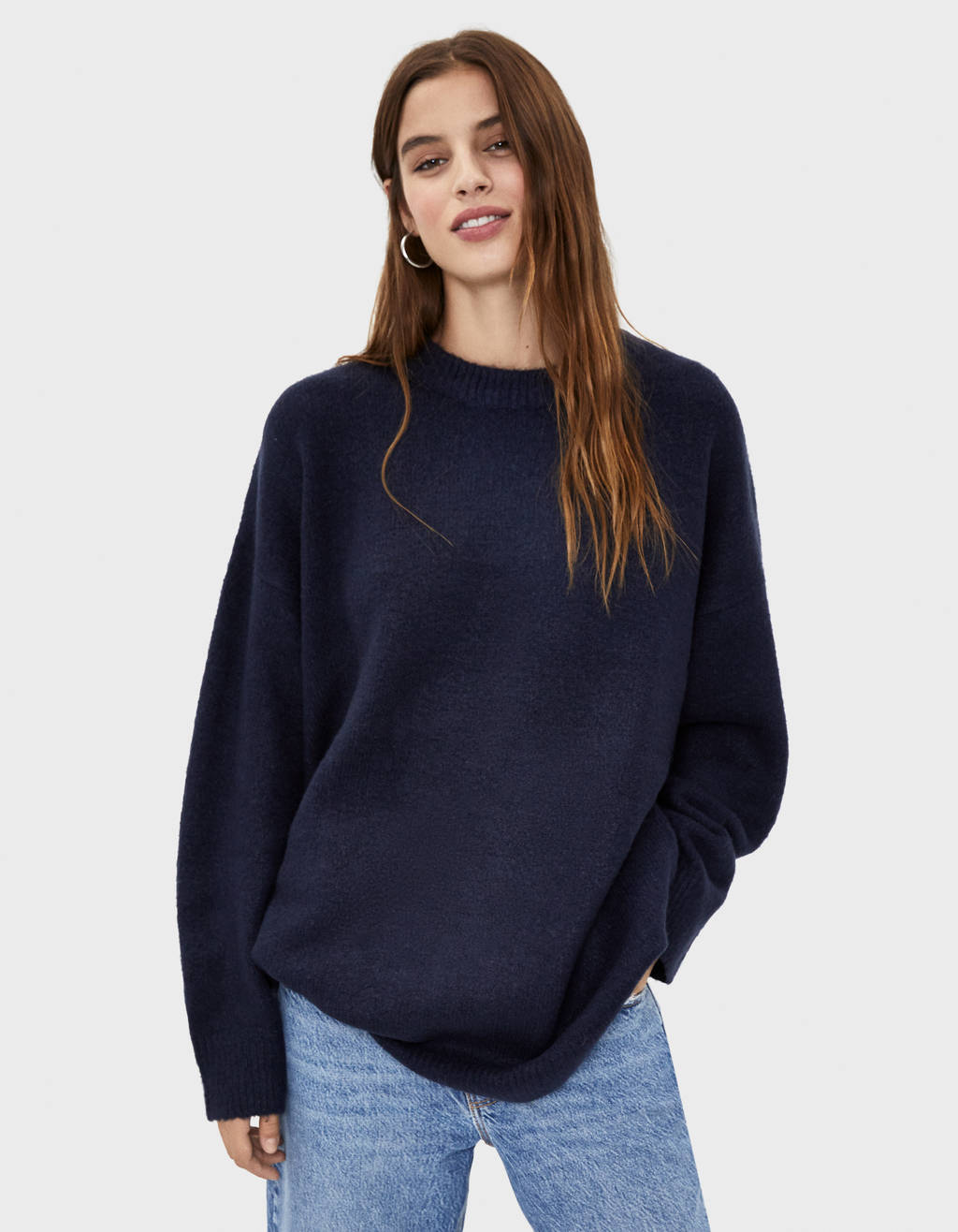 Pull oversize à col rond