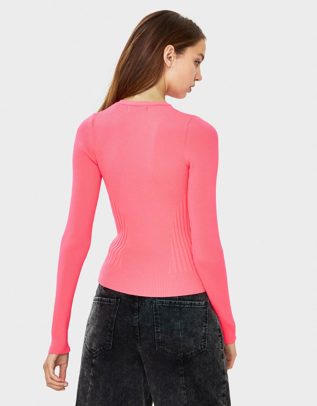 Свитер из высокотехнологичной ткани Розовый Bershka