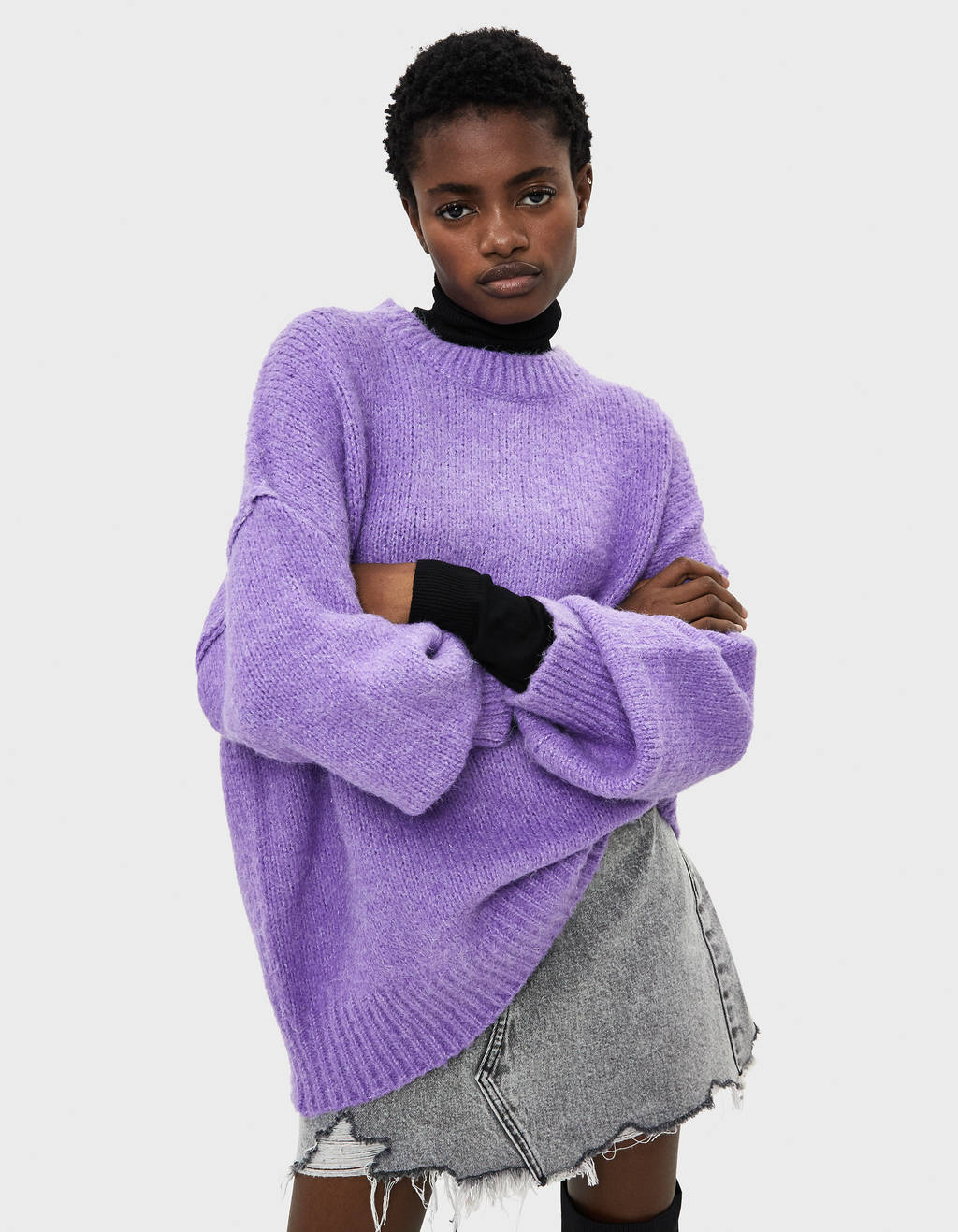 Pullover Oversize Con Collo Rotondo by Bershka
