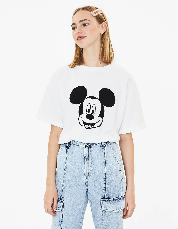 t-shirt-mickey by bershka