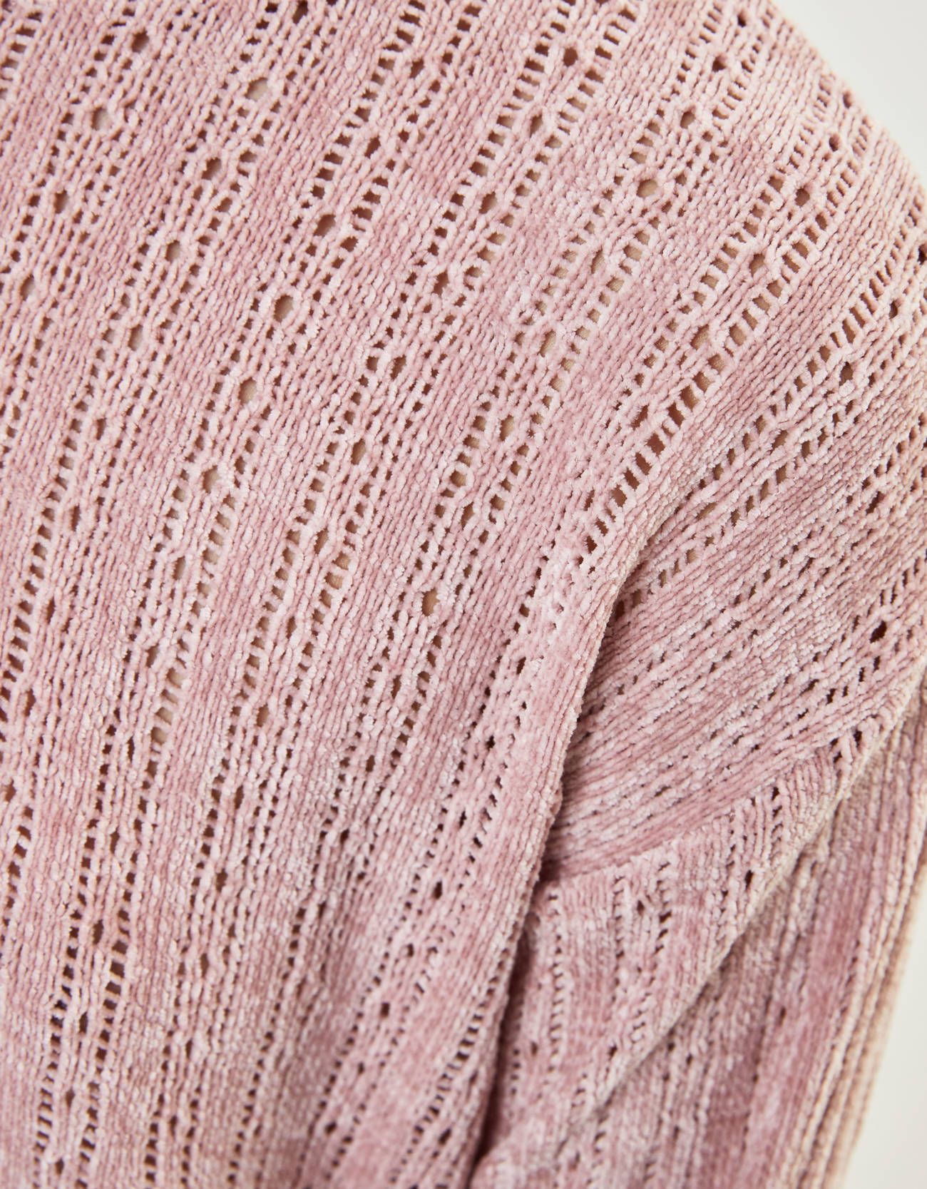 Свитер из утепленной пряжи Розовый Bershka