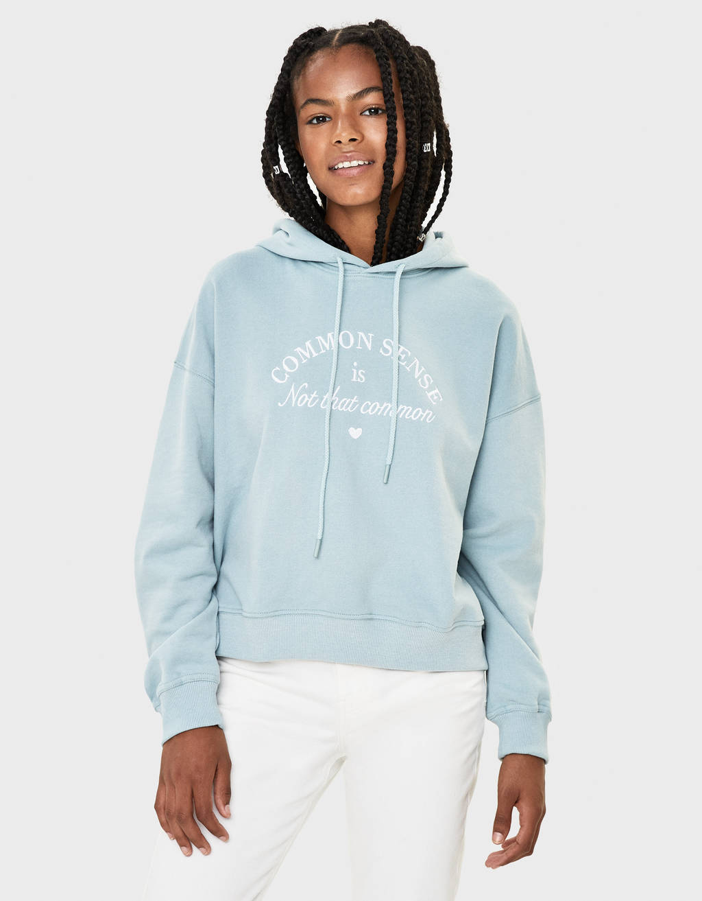 Hoodie with embroidery