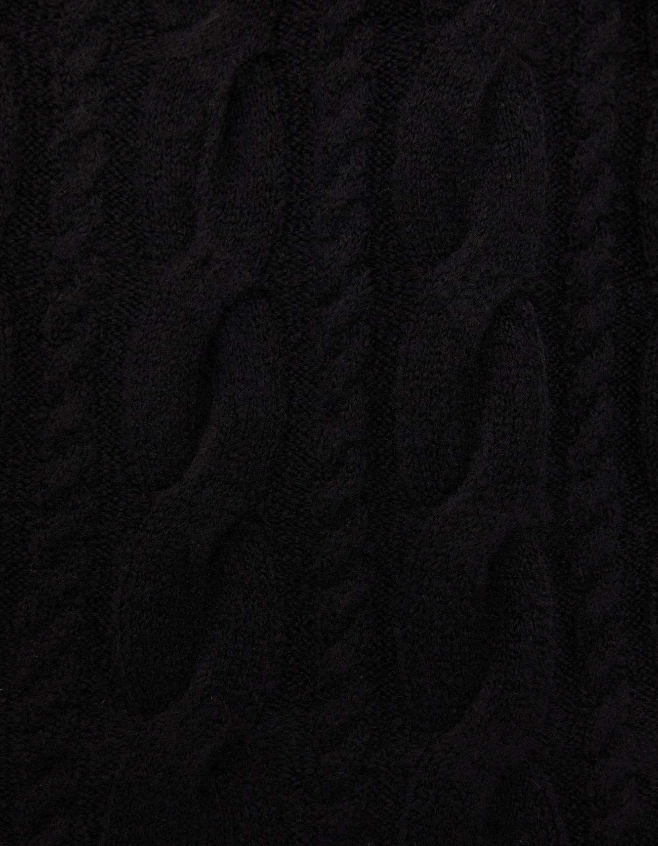 Свитер с узором «Косы» Черный Bershka