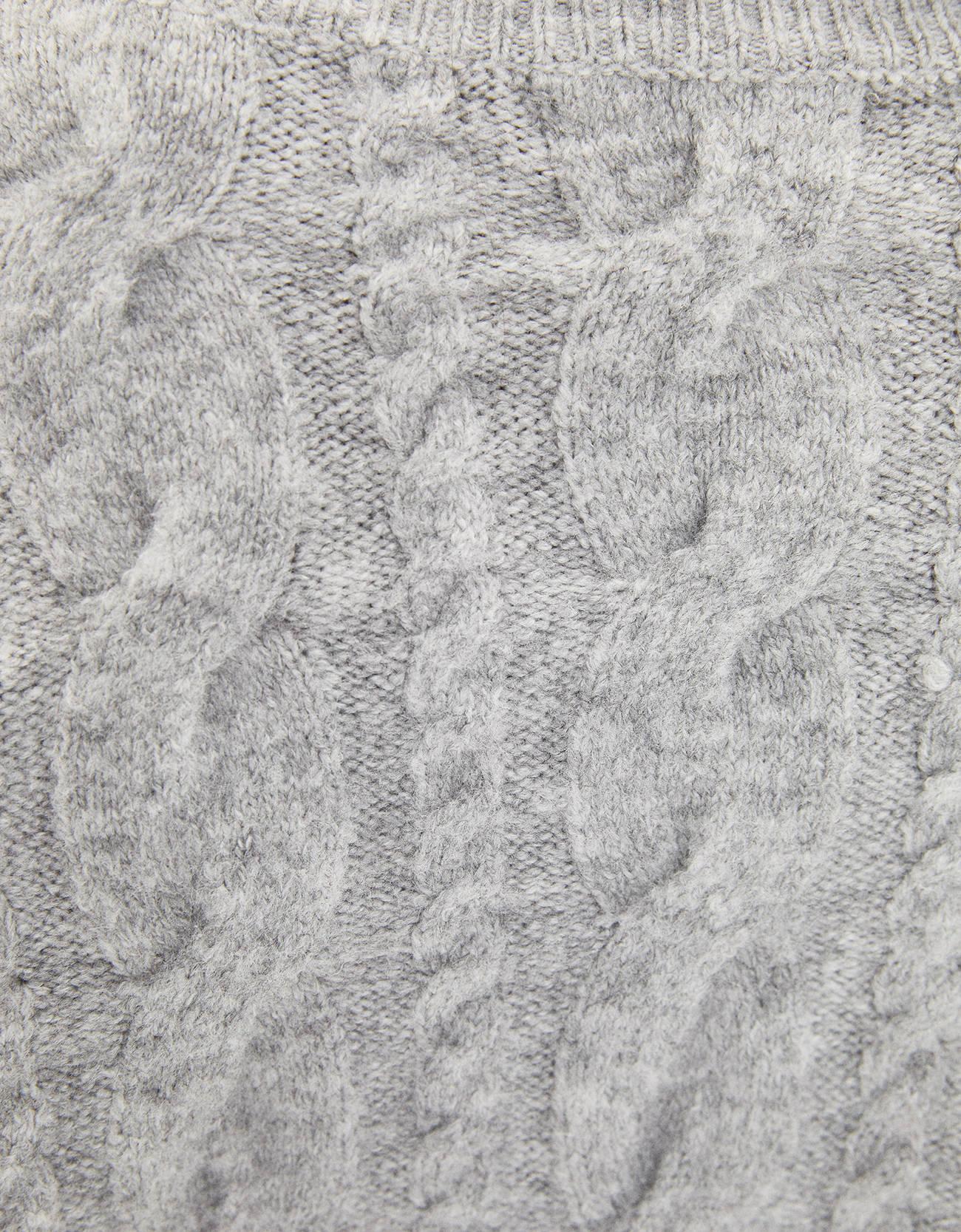 Свитер с узором «Косы» Серый Bershka