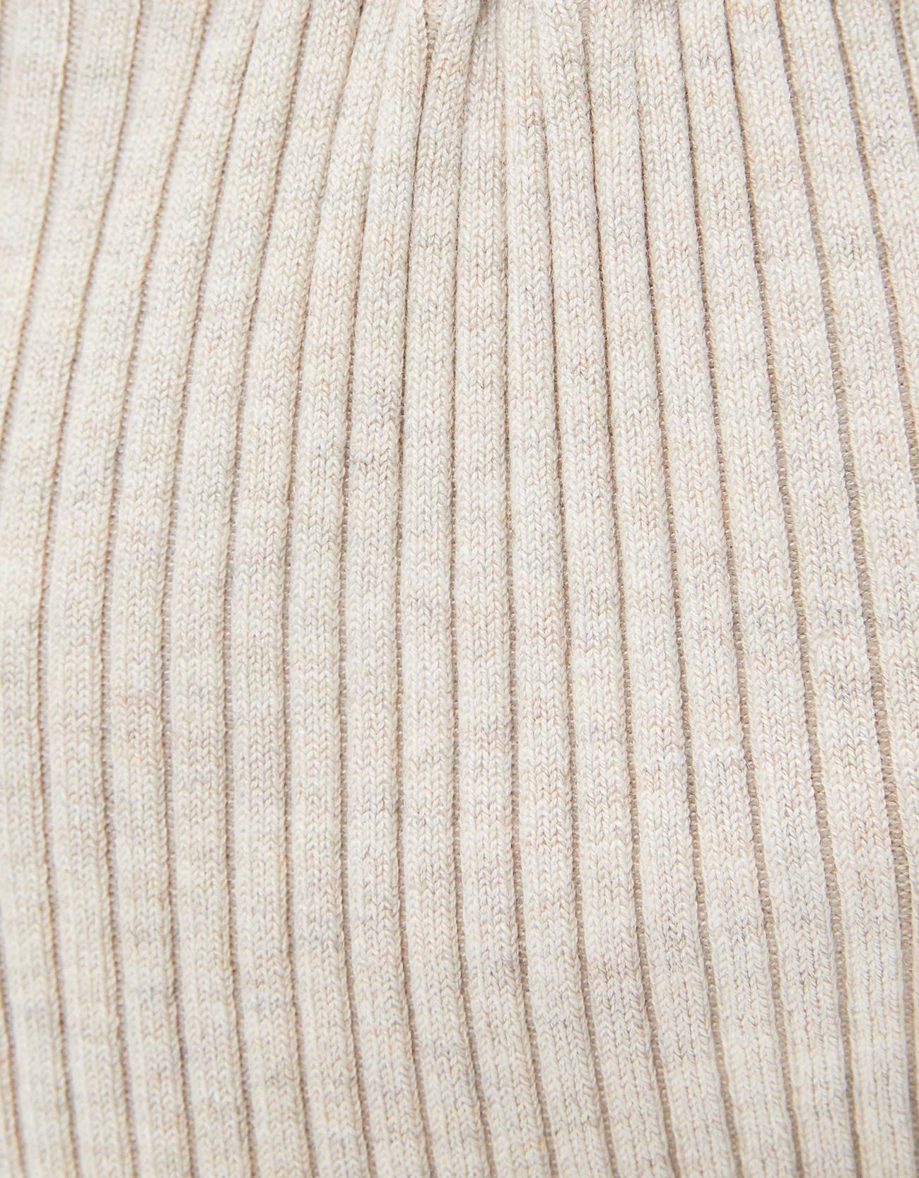 Свитер с кольцом на вырезе Песочный Bershka