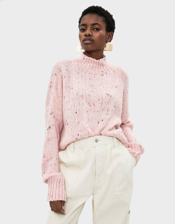 Flecked knit sweater