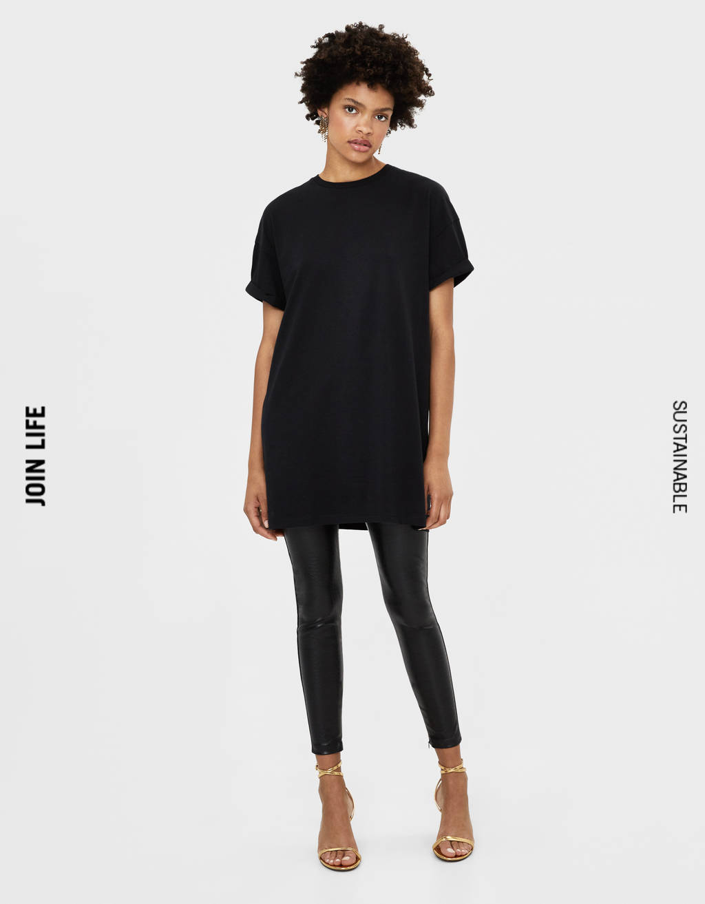 Long T-shirt with short sleeves