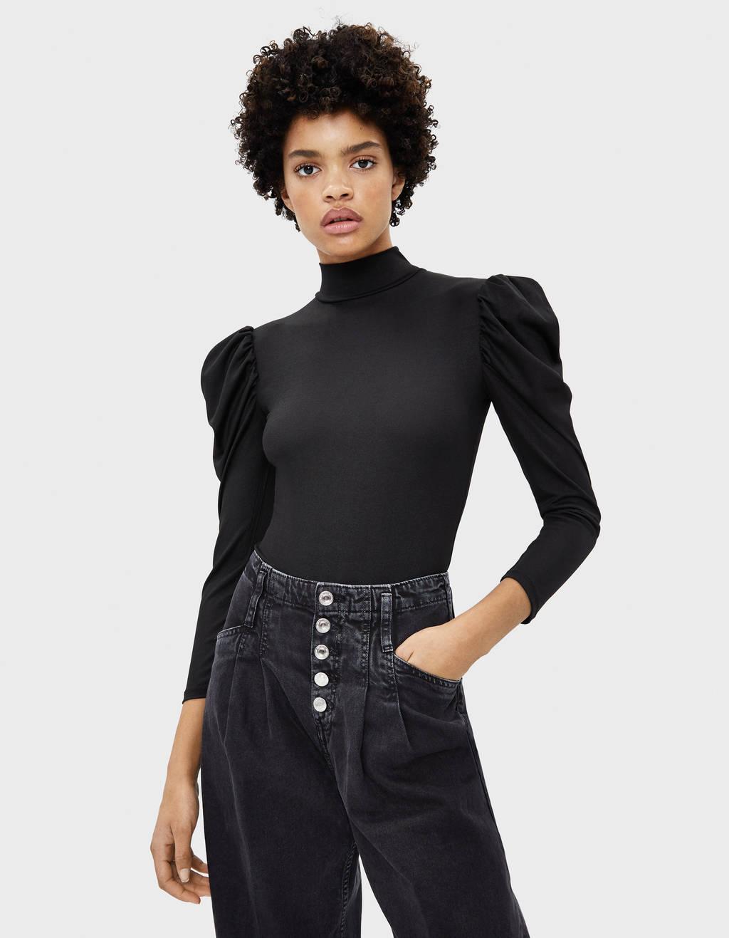 Puff sleeve bodysuit