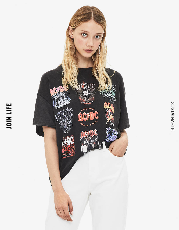 AC/DC print T-shirt