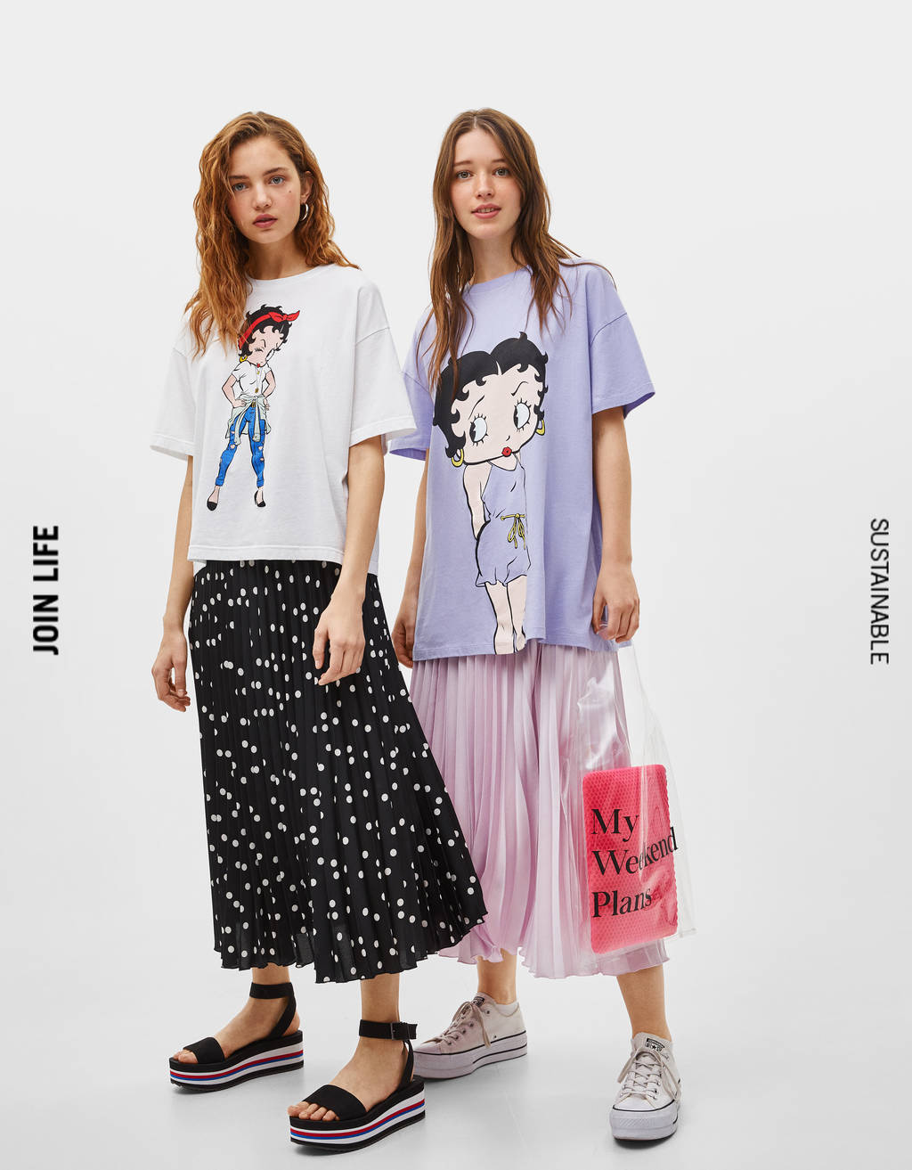 Oversized T-shirt with Betty Boop print