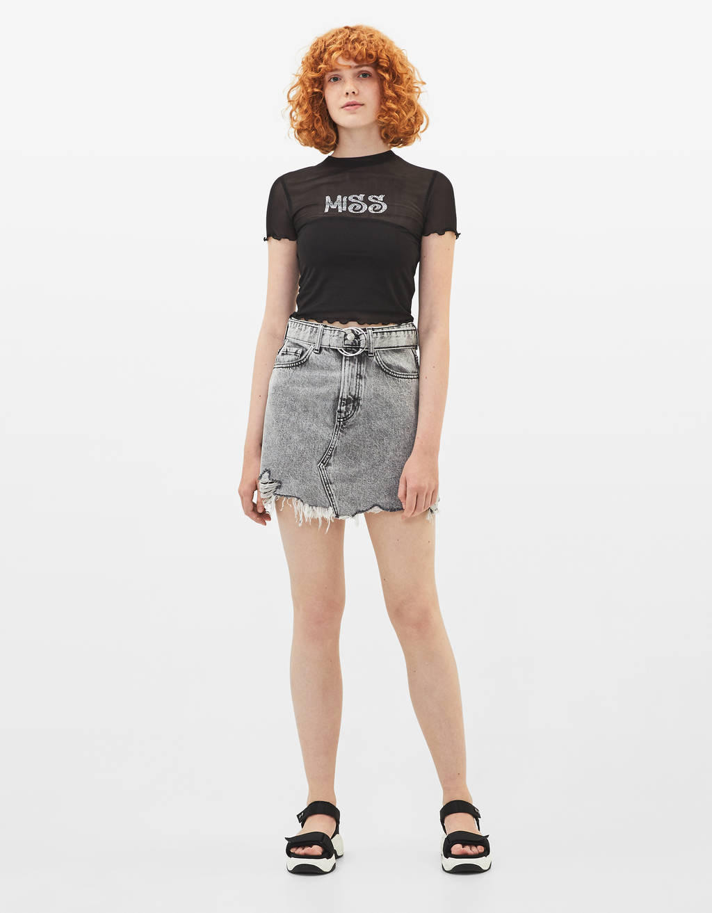 Tulle T-shirt with print